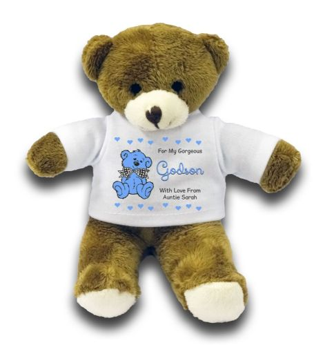 "Personalised Godson Bear Gift 7"" Teddy Bear"
